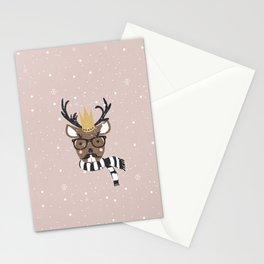 Holiday Deer Illustration Stationery Cards