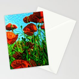 Trippy Poppies Stationery Cards