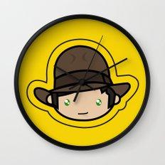 Indiana Jones Kawaii Wall Clock