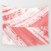coral Wall Tapestries featuring CORAL by LEEMO