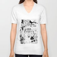 comic V-neck T-shirts featuring comic by Joshwa