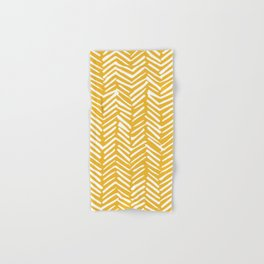 Boho Mudcloth Pattern, Summer Yellow Hand & Bath Towel