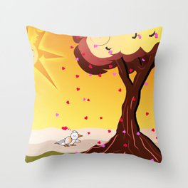 Under the tree part II Throw Pillow