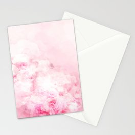 Blooming peonies. Pink power Stationery Cards