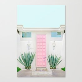 The Pink Door, Palm Springs, California Canvas Print