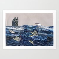 Fish and Jeans Art Print