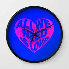 love is all we need Wall Clock