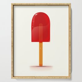 Bright Red Lolly. Serving Tray