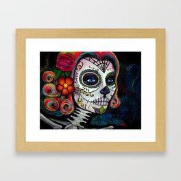 Sugar Skull Candy Framed Art Print