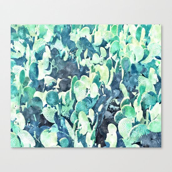 Watercolor Cactus ||| #society6 #decor #buyart Canvas Print