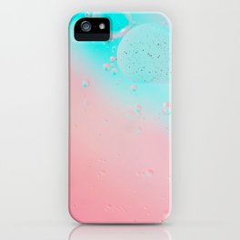 Oil drops in water. Defocused abstract psychedelic pattern image pastel colored. Abstract background with colorful gradient colors. iPhone Case