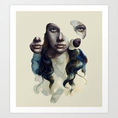 pieces face Art Print