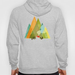 House at the foot of the mountains Hoodie