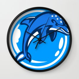 The Ecco Dolphins Wall Clock