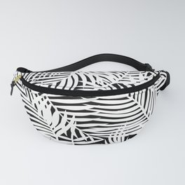 Bright Tropical Island Black Fanny Pack