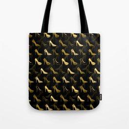 High Heels Golden Shoes pattern Tote Bag