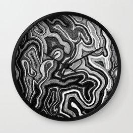 Abstract #1 - I - Silvered Wall Clock