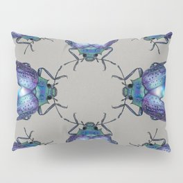Black Opal Beetle Pillow Sham