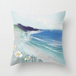 Seaside Daisies Throw Pillow