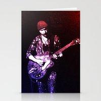 u2 Stationery Cards featuring U2 / The Edge by JR van Kampen