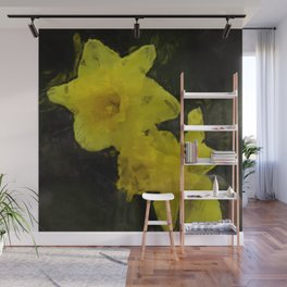 Yellow Daffodils Impressionist Painting Wall Mural