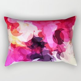 Bright Happy Color Abstract Rectangular Pillow