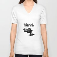 yoda V-neck T-shirts featuring yoda by muffa