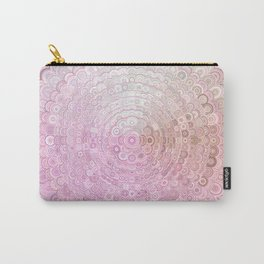 Pink and White Flower Mandala Carry-All Pouch