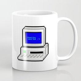 Hello World in Pixel Style Coffee Mug