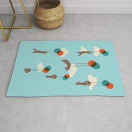 Flight of the Wiener Dogs Rug