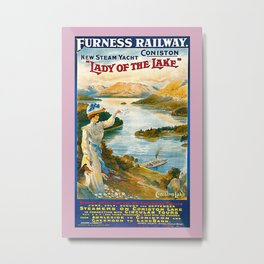 Furness Railway and Lady of the Lake Metal Print