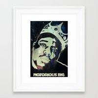 biggie smalls Framed Art Prints featuring Biggie Smalls by Taylor Burleson