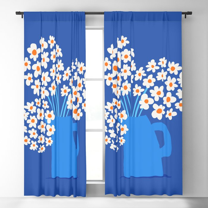 Abstraction_FLORAL_Blossom_001 Blackout Curtain