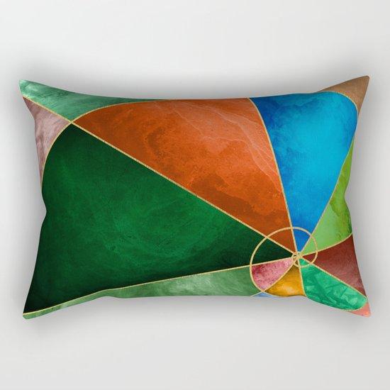 Golden Spiral Rectangular Pillow