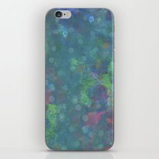 Blue and green abstract painting iPhone & iPod Skin