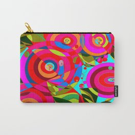 Spiral Flowers with Many Colors Carry-All Pouch