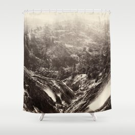 Devil's Canyon, geysers, looking down Shower Curtain