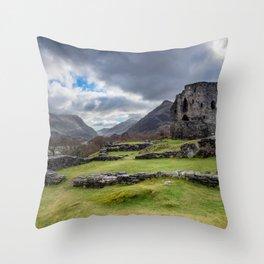 Dolbadarn Castle Snowdonia Throw Pillow