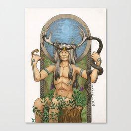 Cernunnos, Celtic God of the Wild Hunt Canvas Print