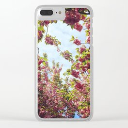 Cherry Blossom Delight 2 Clear iPhone Case