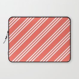 Living Coral Large Small/Small Stripes Laptop Sleeve