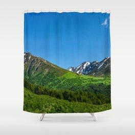 Alaskan Summer Greens - 1 Shower Curtain