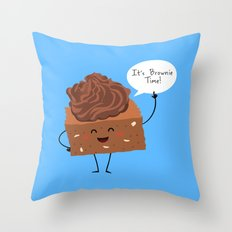BROWNIE TIME (Blue version) Throw Pillow