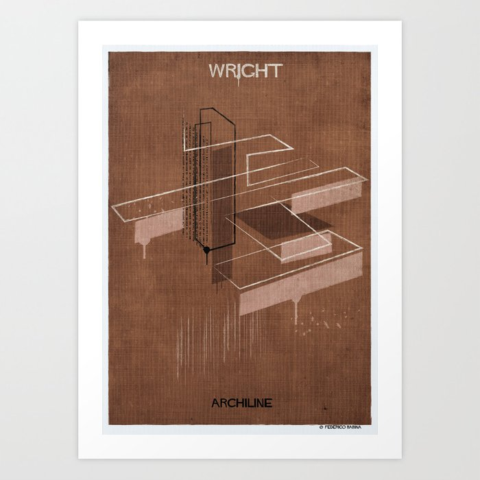 08 Archiline Frank Lloyd Wright Art Print By