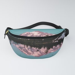 Teal Mountain Lake Reflection - Summer Adventure Fanny Pack