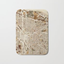 Portland Oregon City Map Bath Mat