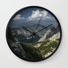 Kotor Bay in Montenegro Wall Clock