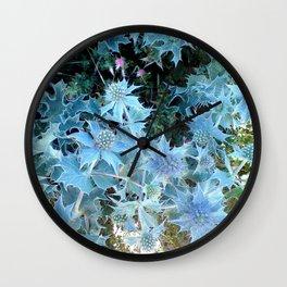 sea holly  Wall Clock