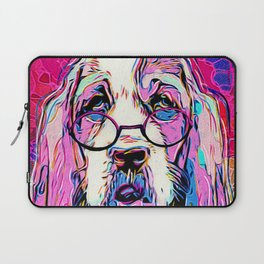 Amused Bassett Laptop Sleeve