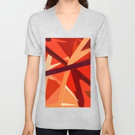 Red Fuel and Refuel Unisex V-Neck